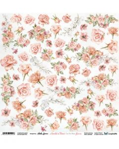 Enostranski papir - Amidst the Roses Flowers - 30,5x30,5cm - 250g