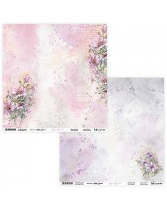 Dvostranski papir - Aquarelles 03/04 - 30,5x30,5cm - 250g