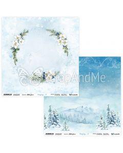 Dvostranski papir - Frosty Days 01/02 - 30,5x30,5cm - 250g