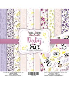 Set obojestranskih papirjev - My little baby girl - 30,5x30,5cm - 10 listov - 200g