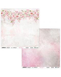 Dvostranski papir - Rosy Days 03/04 - 30,5x30,5cm - 250g