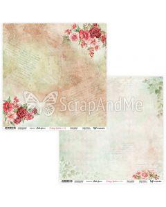 Dvostranski papir - Vintage garden 03/04 - 30,5x30,5cm - 250g