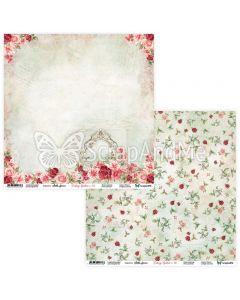 Dvostranski papir - Vintage garden 05/06 - 30,5x30,5cm - 250g