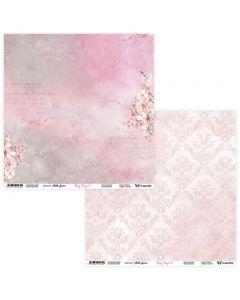 Dvostranski papir - Rosy Days 07/08 - 30,5x30,5cm - 250g