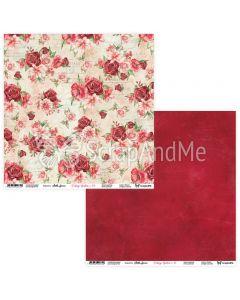 Dvostranski papir - Vintage garden 09/10 - 30,5x30,5cm - 250g
