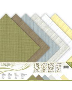 Set papirjev s teksturo Precious Marieke - Springtime - 30,5x30,5cm - 12 listov - 250g