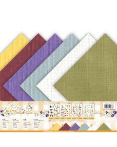 Set papirjev s teksturo Precious Marieke - Early Spring - 30,5x30,5cm - 12 listov - 250g