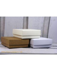 Osnova za škatlico - 8x8x3cm - kraft - 300g - Rzeczy