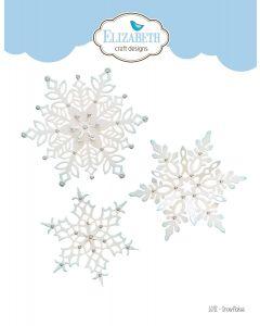 Rezalna šablona - Snowflakes - snežinke - 10,4x8,9cm (največja) - Elizabeth craft designs