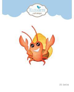 Rezalna šablona - Sand Crab - rak - 6,4x8,4cm - Elizabeth craft designs