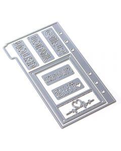 Rezalna šablona - Sidekick Essentials 1 - 10,4x17cm - Elizabeth craft designs