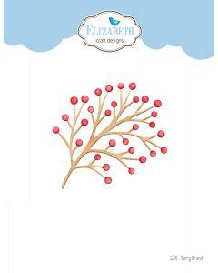Rezalna šablona - Berry Branch - vejica - 9,7x7,1cm - Elizabeth craft designs