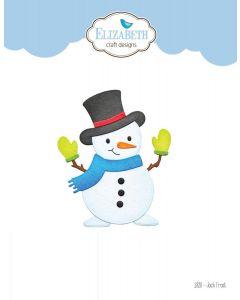 Rezalna šablona - Jack Frost - snežak - 7,4x8,9cm - Elizabeth craft designs