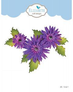 Rezalna šablona - Florals 9 - rože - 5,3x5,6cm (največji cvet) - Elizabeth craft designs