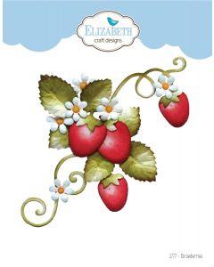 Rezalna šablona - Strawberries - jagode - Elizabeth craft designs