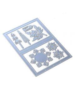 Rezalna šablona - Snowy Windows - Elizabeth craft designs
