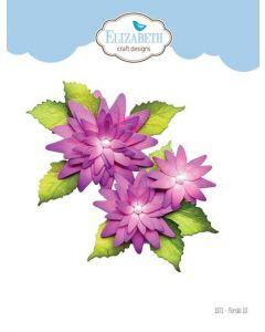 Rezalna šablona - Florals 10 - rože - 6,1x6,6cm (največja) - Elizabeth craft designs