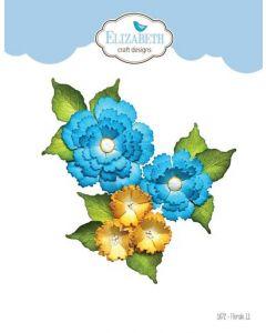 Rezalna šablona - Florals 11 - rože - 5,6x5,3cm (največja) - Elizabeth craft designs