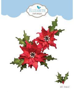 Rezalna šablona - Florals 12 - rože - 6,4x5,8cm (največja) - Elizabeth craft designs