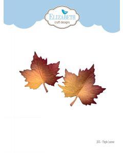 Rezalna šablona - Maple Leaves - list - 5,8x5,8cm (največja) - Elizabeth craft designs