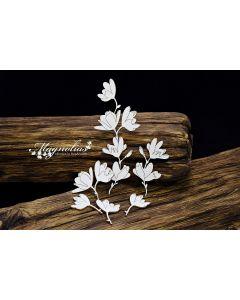 Laserski izrez - magnolije na vejici - 115x145mm - SnipArt