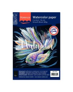 Akvarelni papir - Florence - Black - gladek - 300g  - A4 - 10 listov