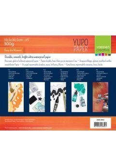 Yupo papir - bel - 30,5x30,5cm - 300g - 5 kos - Vaessen Creative
