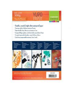 Yupo papir - bel - A4 - 300g - 10 kos - Vaessen Creative