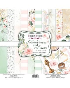 Set obojestranskih papirjev - Tenderness and love - 30,5x30,5cm - 10 listov - 250g