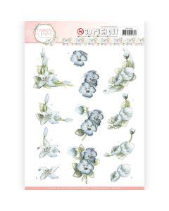3D Pushout - Precious Marieke - Flowers in Pastels - True Blue