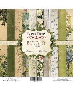 Set obojestranskih papirjev - Botany summer - 20x20cm - 10 listov - 200g