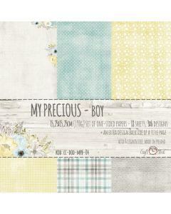 Set enostranskega papirja - MY PRECIOUS BOY  15,25 x 15,25 cm