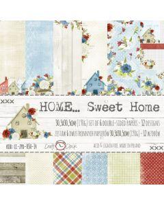 Set obojestranskega papirja - HOME SWEET HOME  30,5 x 30,5 cm