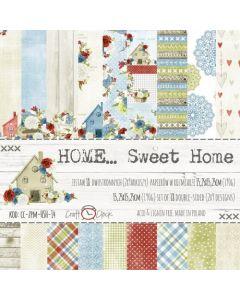 Set obojestranskega papirja - HOME SWEET HOME  15,25 x 15,25 cm