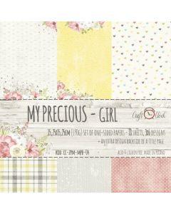 Set enostranskega papirja - MY PRECIOUS GIRL  15,25 x 15,25 cm