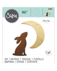 Rezalna šablona - Sizzix - Bigz Rabbit & Moon / zajec in luna