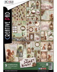 Set dvostranskih papirjev - THE SOUND OF WINTER - creative pad - A4 - 9 listov - 190g