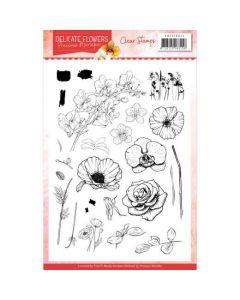 Štampiljka Precious Marieke Delicate Flowers - 14,8x21cm