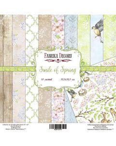 Set obojestranskih papirjev - Smile of spring  30,5 x 30,5 cm