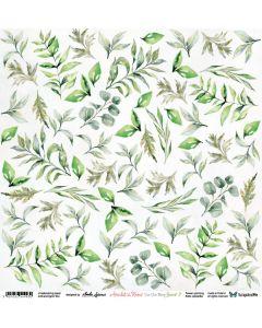 Enostranski papir - Amidst the Roses Leaves 2 - 30,5x30,5cm - 250g