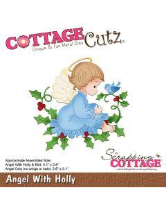 Rezalna šablona CottageCutz Angel With Holly