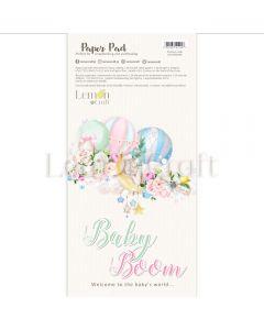 Set obojestranskih papirjev za rezanje - Baby boom - 15,24x30,5cm - 24 listov - 250g - Lemoncraft