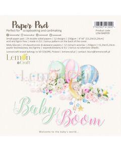 Set obojestranskih papirjev - Baby boom - 15x15cm - 24 listov - 250g - Lemoncraft
