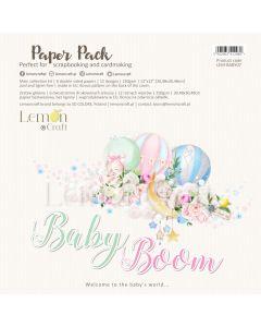 Set obojestranskih papirjev - Baby boom - 30x30cm - 6 listov - 250g - Lemoncraft