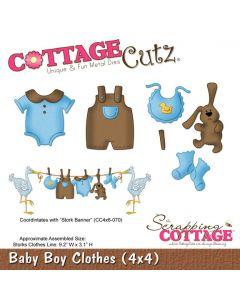 Rezalna šablona CottageCutz Baby Boy Clothes