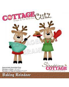 Rezalna šablona CottageCutz Baking Reindeer