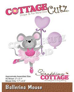 Rezalna šablona CottageCutz Ballerina Mouse