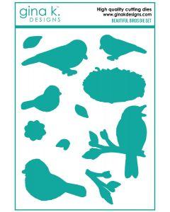 Rezalna šablona - BEAUTIFUL BIRDS - Gina K Designs