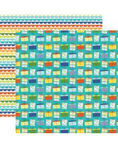 Dvostranski papir - Birthday Blast Let's Celebrate - 30,5x30,5cm - Simple Stories