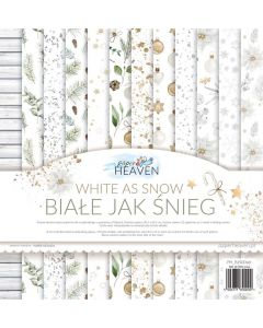 Set dvostranskih papirjev - White as snow - 30,5x30,5cm - 12 listov - 250g